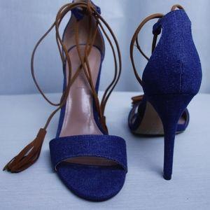 BCBG Maxazria Denim Stiletto Sandal
